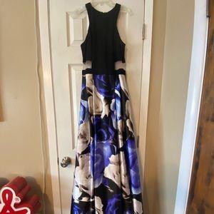 Flowered Prom Dress